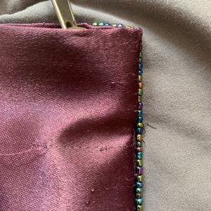Accessories - 🌷Hand beaded satin coin pouch